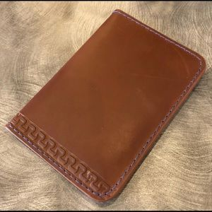 Other - Men's Brown Leather Patterned Wallet Card Case